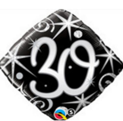 30 Elegant Sparkles & Swirls Foil Balloon