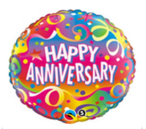 Anniversary Confetti Foil Balloon