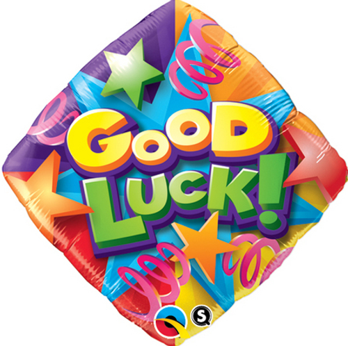 Good Luck Stars & Streamers Foil Balloon