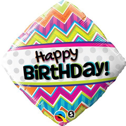 Birthday Chevron Patterns Foil Balloon