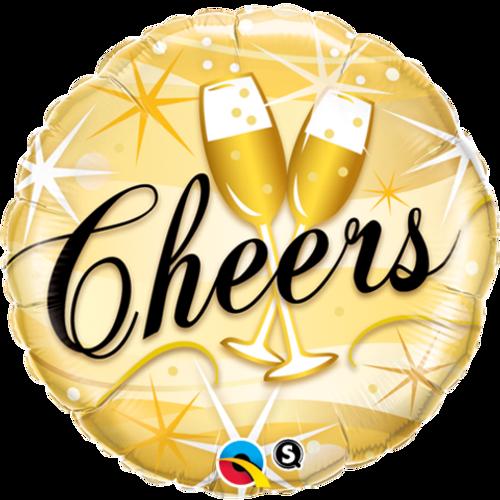 Cheers Starbursts Foil Balloon