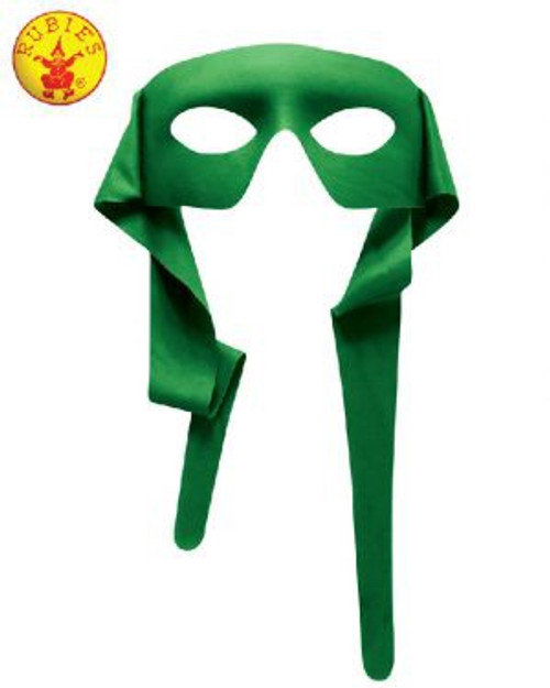 Hero Mask with Rear Tie, Green, Adult