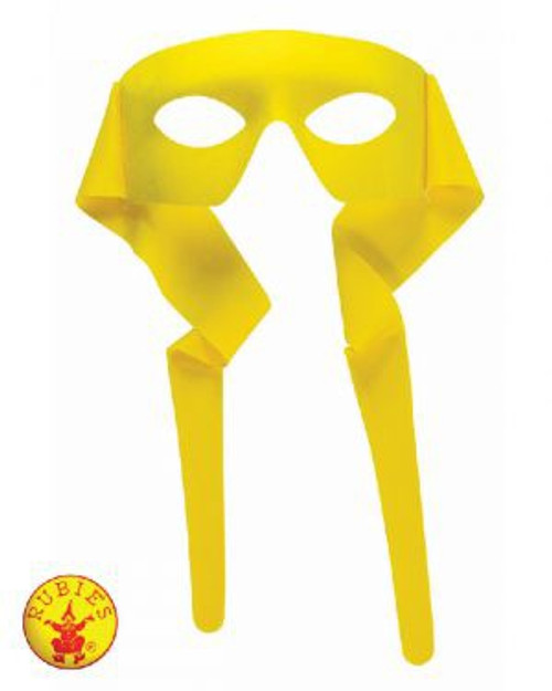 Hero Mask with Rear Tie, Yellow, Adult