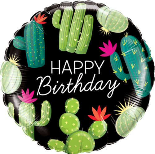 Birthday Cactuses Foil Balloon