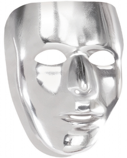 Mask Full Face Silver