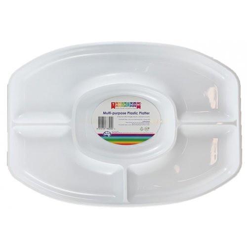 Platter - Plastic Multi Purpose 4 Sectioned
