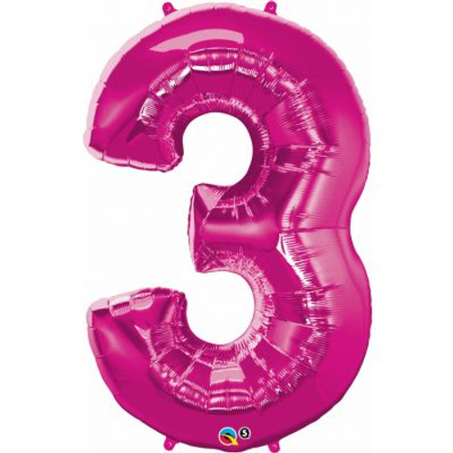 Number 3 Megaloon - Pink