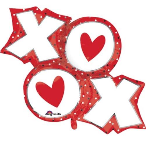 XO Dots Super Shape Foil Balloon