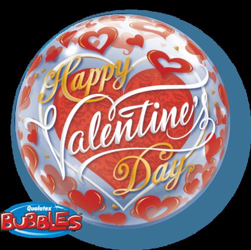 Valentine's Red Heart Bubble