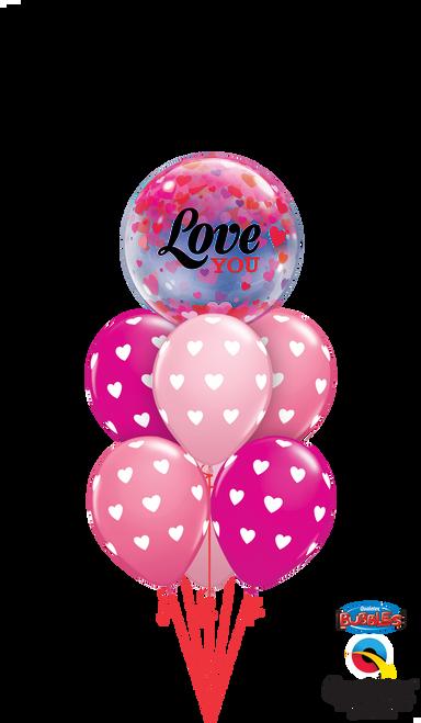 Bubbling Hearts Valentine