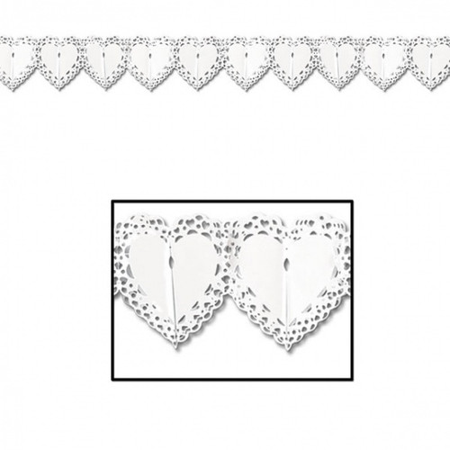 Lace Heart Paper Garland