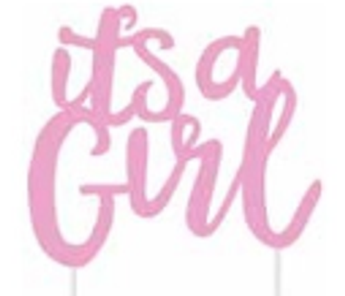 Cake Topper It's a Girl Pink