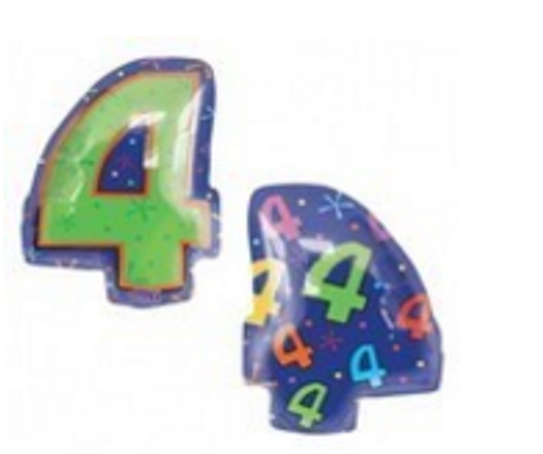 Numeral 4 Junior Shape Balloon