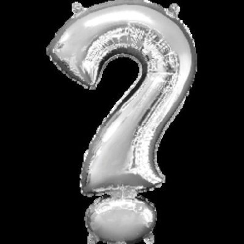 Question Mark Symbol Silver Supershape Foil Balloon