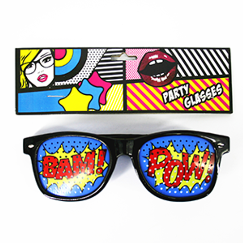 Superhero Pop Art Glasses