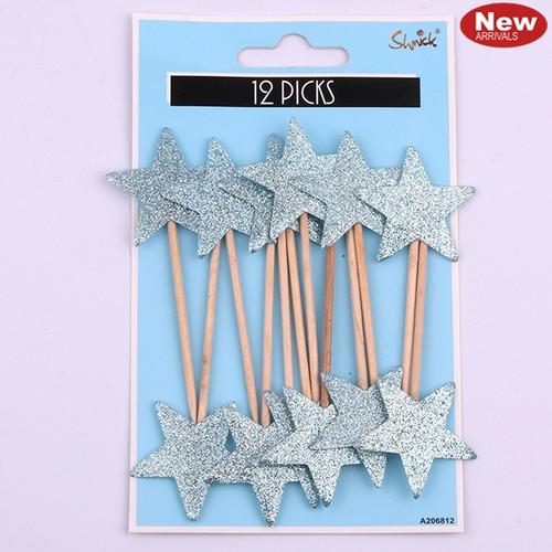 Luxe Star Glitter Picks - Blue