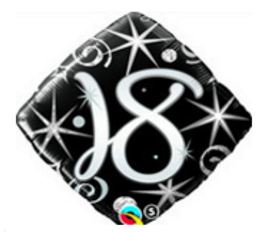 18 Elegant Sparkles & Swirls Foil Balloon
