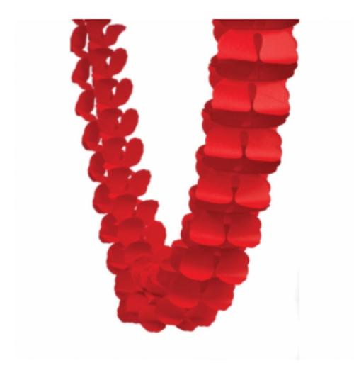 Honeycomb Garland - Apple Red