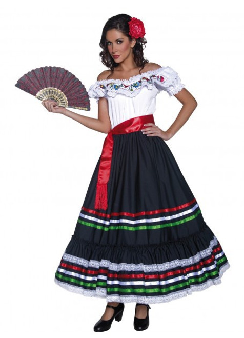 Authentic Western Sexy Senorita Costume - M
