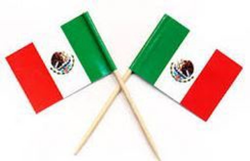 20 Mexican Flag Picks
