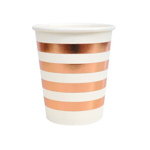 Rose Gold Stripes Cup