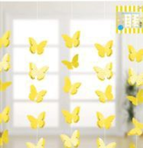 3D Butterfly Garland Yellow