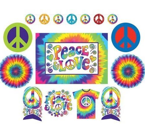 Feelin Groovy 60's Hippie Room Decorating Kit