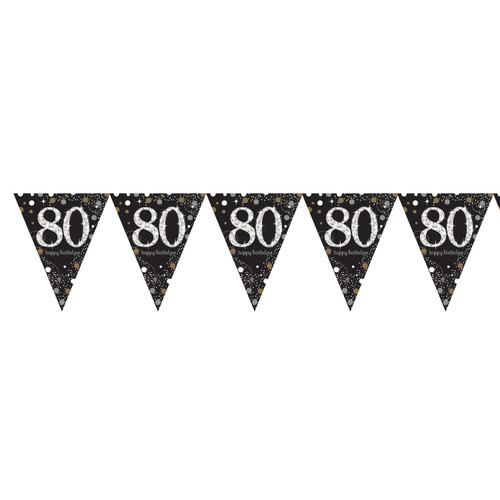 Flag Banner - Black - 80th