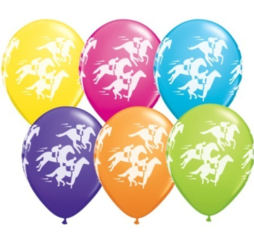 Racehorse Wrap Tropical Assortment Latex Balloons