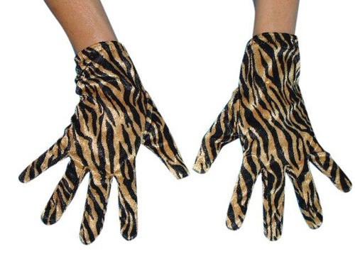 Tiger Print Short Gloves