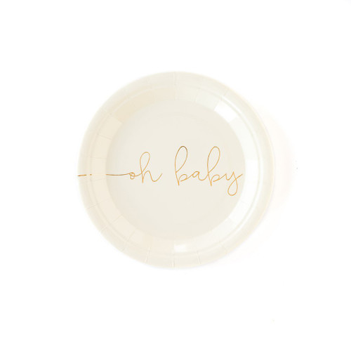 Basic Oh Baby Paper Plates
