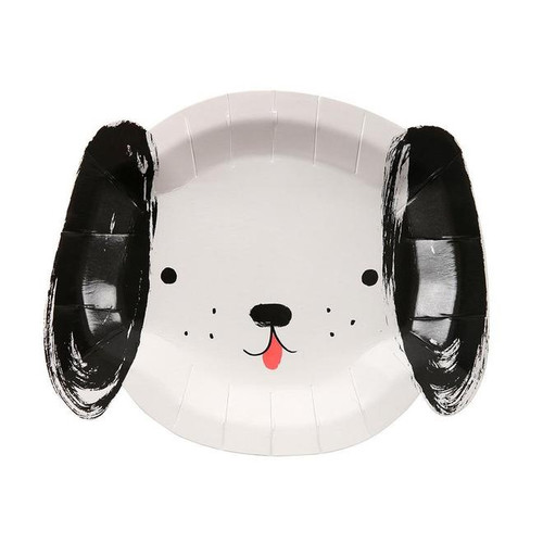 Black & White Dog Paper Plates