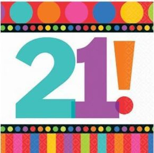 Napkin - 21st Birthday