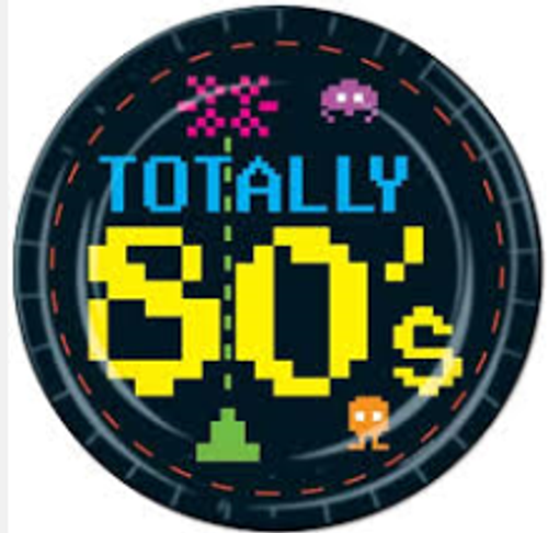 Totally 80's Paper Plates