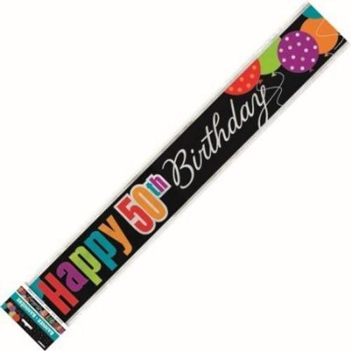 Birthday Cheers 50th Birthday Foil Banner