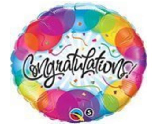 Congratulations Balloons Foil Balloon