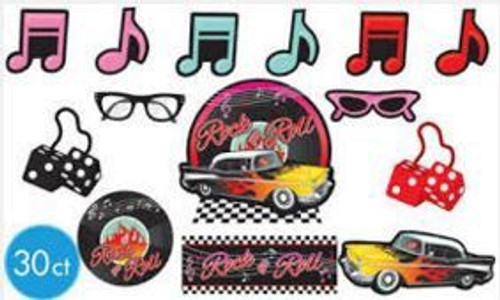 50's Rock and Roll Mega Value Cutout Pack