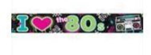 80's Metallic Banner