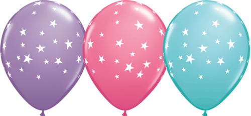 Contempo Stars Latex Balloons