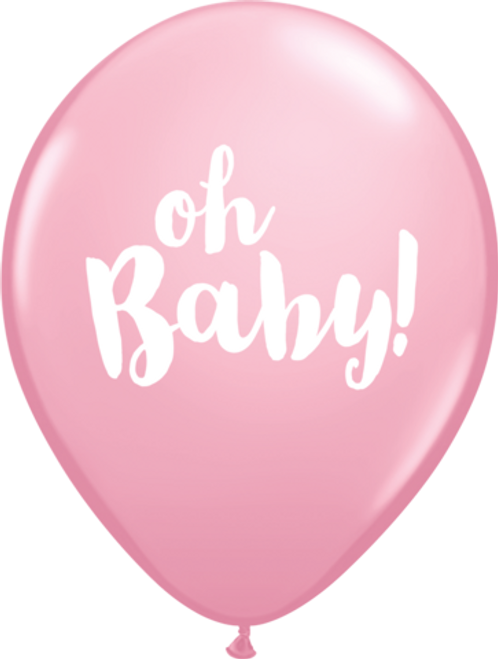 Oh Baby Pale Pink Latex Balloons