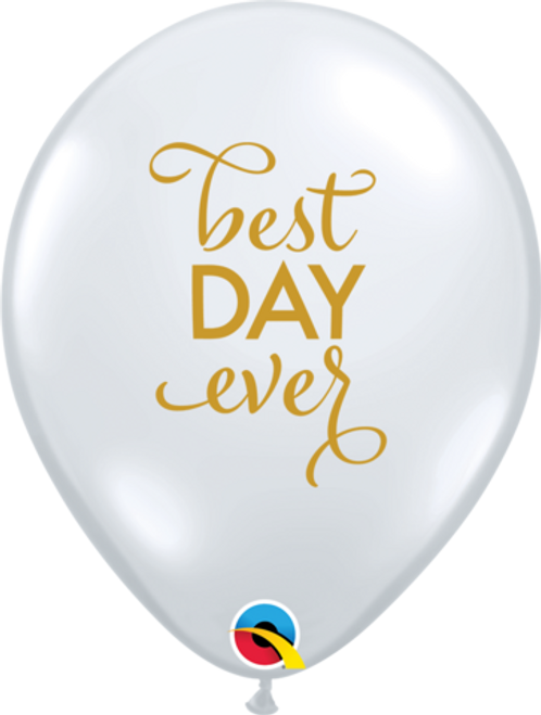 Simply Best Day Ever Diamond Clear Latex Balloons