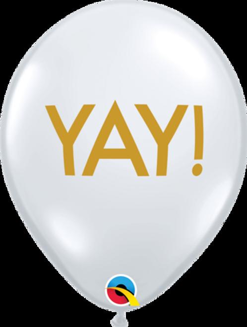 Simply YAY Diamond Clear Latex Balloons