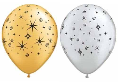 Elegant Sparkles Latex Balloons