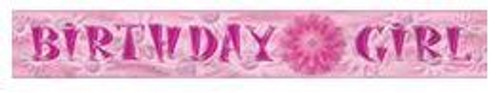 Birthday Girl Foil Banner