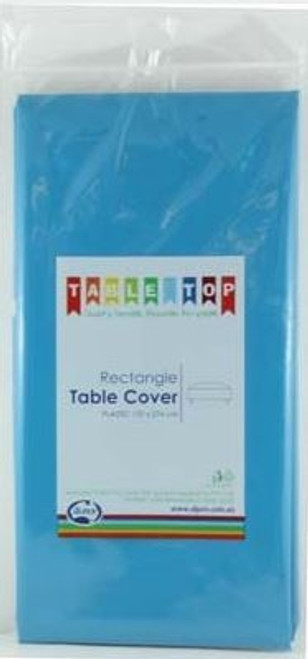 Plastic Table Cover - Azure Blue