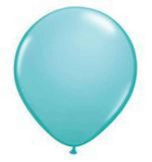 Caribbean Blue 28cm Balloons - PAck of 100
