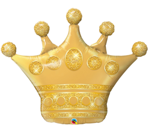 Golden Crown Supershape Balloon