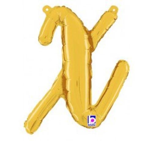 """14"""" Script Letter Foil Balloon - x"""