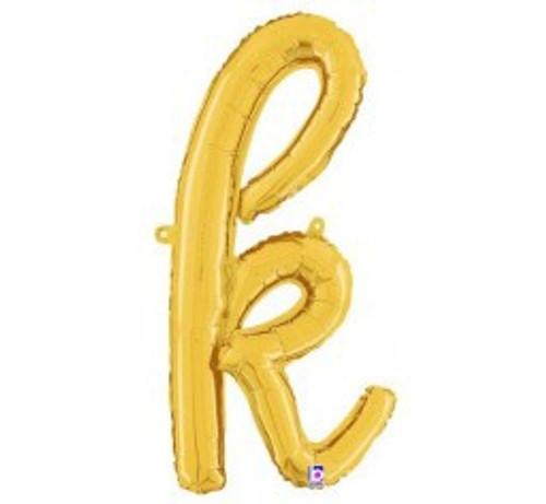 """24"""" Script Letter Foil Balloon - k"""