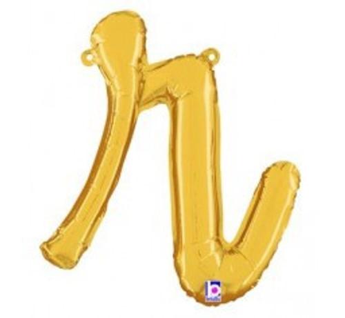 "14"" Script Letter Foil Balloon - r"